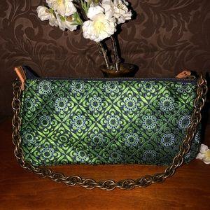J CREW SILK Chain Floral Purse Shoulder Bag Clutch
